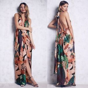 NWOT Free People Bariano Miami maxi dress